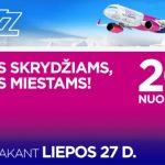 "Akcija: -20% visiems ""Wizz Air"" skrydžiams!"
