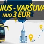 Ecolines akcija: Varšuva iš Vilniaus nuo 3 €