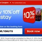 10% nuolaidos kodas Hotels.com viešbučių rezervacijoms!
