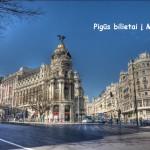 """Kainos rekordas! Pigūs """"RyanAir"""" bilietai iš Vilniaus į Madridą, Ispanija – tik 20 EUR į abi puses!"""