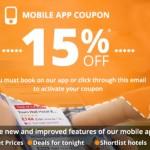 Net 15% nuolaidos kodas viešbučių rezervacijoms per Venere mobiliąją aplikaciją!