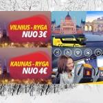 Pigūs Ecolines autobusų bilietai kelionėms iš Kauno ir Vilniaus vasario mėn!