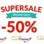 Akcija: -50% nuolaida tarptautiniams Lux Express autobusų bilietams visomis kryptimis!