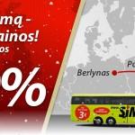 """Net 80% nuolaida """"Simple Express"""" autobusų bilietams išvykimams iš Kauno!"""