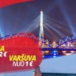 Super hitas! Ecolines autobusų bilietai į Varšuvą iš Vilniaus – vos po 1 EUR, į Rygą – vos po 2 EUR!