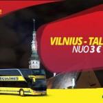 Hitas! Ecolines autobusų bilietai į Taliną iš Vilniaus – vos po 3 EUR!