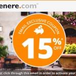 Net 15% nuolaidos kodas viešbučių rezervacijoms per Venere internetinę svetainę!
