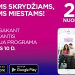 """Geras pasiūlymas nuo """"Wizz Air"""" – tik šiandien visiems skrydžiams net -25% nuolaida perkant per mobiliąją aplikaciją!"""