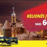 """""""Ecolines"""" pigūs autobusų bilietai į Taliną iš Vilniaus ir Kauno – vos po 6 EUR!"""