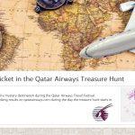 """Grandiozinė """"Qatar Airways"""" akcija """"Treasure Hunt"""" su beveik nemokamais bilietais GRĮŽTA!!!"""