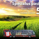 """""""Lux Express"""" autobusų bilietai iš Kauno bei Vilniaus į Varšuvą ir Suvalkus – vos nuo 5 EUR!"""