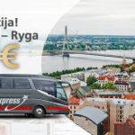 """""""Lux Express"""" autobusų bilietai iš Vilniaus į Rygą ir atgal – vos po 5 EUR!"""
