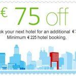 Grąžinamos sumos auga! Atgaukite net 75 EUR nuo 225 € ar didesnės viešbučio rezervacijos per Booking.com sistemą!