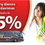 """Moters dienos proga """"Lux Express"""" autobusų maršrutai su nuolaidomis iki 55%!"""